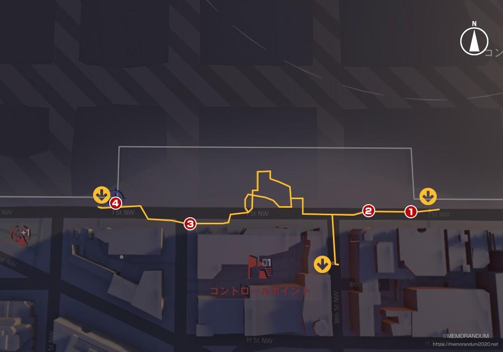 鍵MAP-ダウンタウンウェスト1