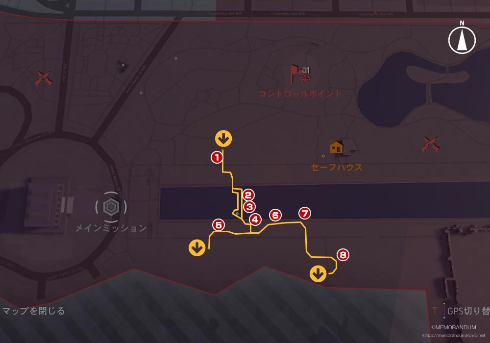 鍵MAP-西ポトマック2