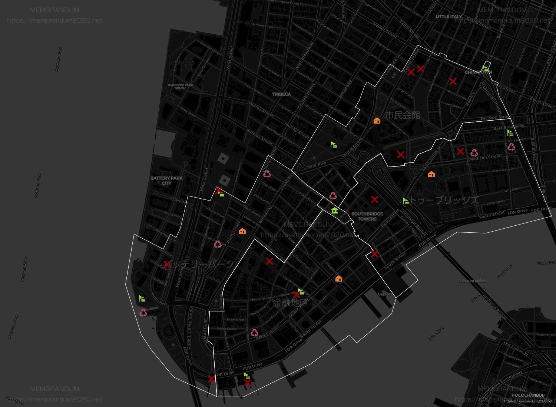 勢力箱(ニューヨーク)MAP